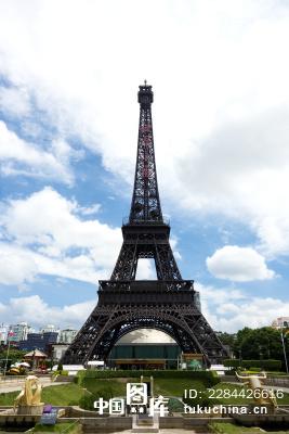 广东深圳城市风光世界之窗巴黎铁塔