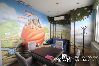 家居图,墙绘,茶社,咖啡馆