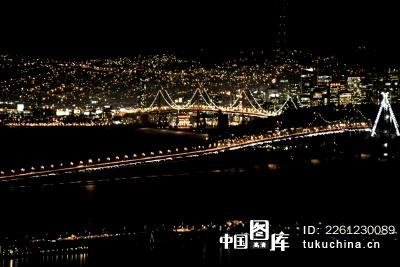 美国城市建筑夜景