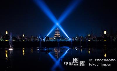 城市类:西安大雁塔夜景