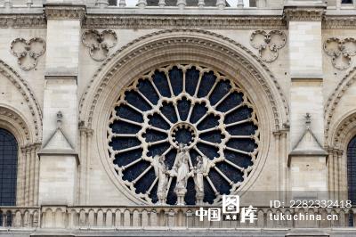 欧式建筑浮雕图案窗户